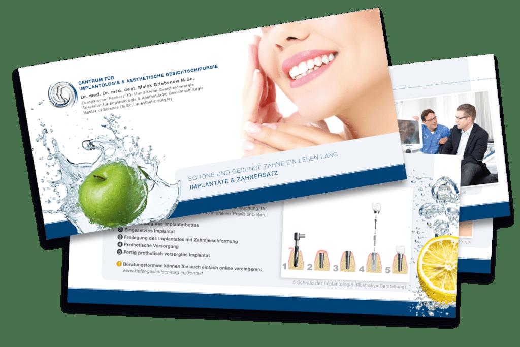 Praxisbroschüren der Praxis für ästhetische Gesichtschirurgie in Dortmund